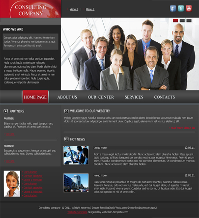 Consulting html5 free template