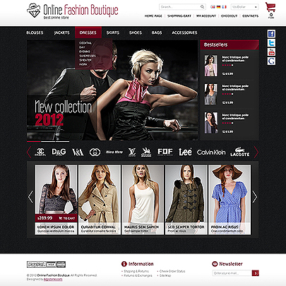 MG17030004 Online Fashion Boutique website template thumb