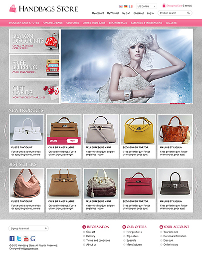OS23130005 HandBags Store website template thumb