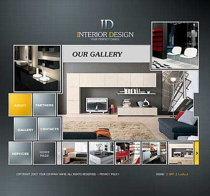 Interior Design website template thumb
