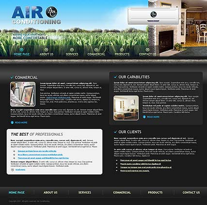 Air Conditioning website template thumb
