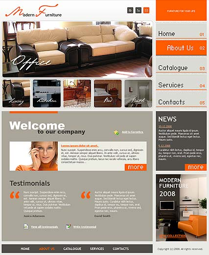 Modern furniture website template thumb