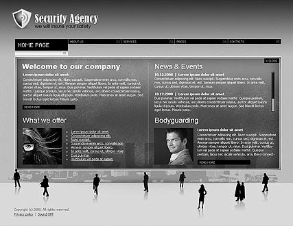 Security agency Easy flash templates