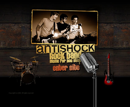 Rock Band website template thumb