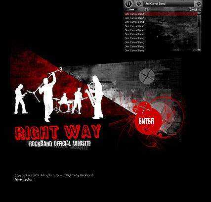 RockBand website template thumb