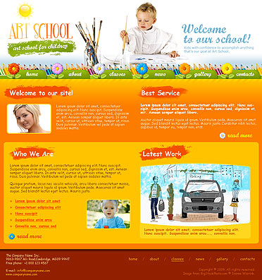Art School website template thumb