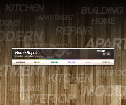 Home Repair VideoAdmin flash templates