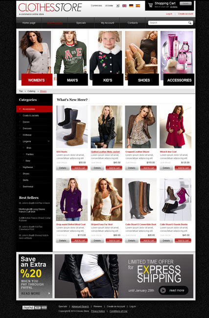 Clothes 2.3 ver. website template thumb