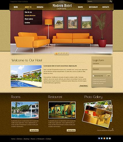 Joomla theme - hotel