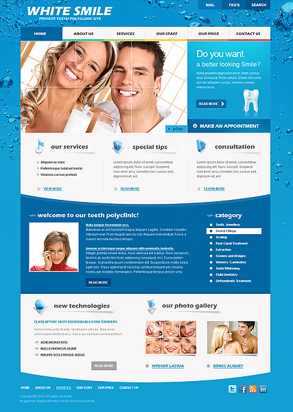 Dentist website template thumb
