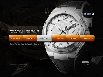Watch Repair website template thumb