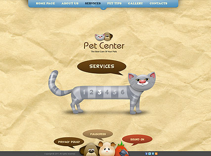 Website template for pet center