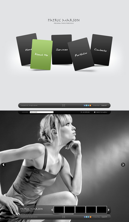 Personal folio website template thumb