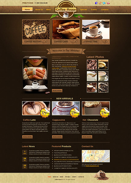 Coffe house template