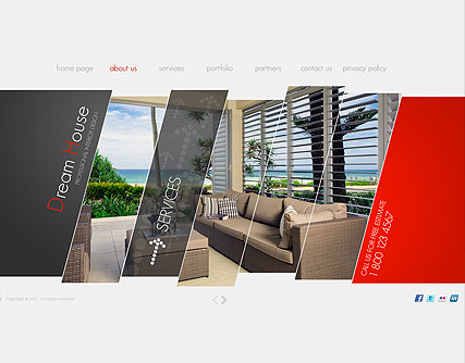 Interior Design website template, 300111225 Easy flash