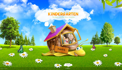 kindergarten website template thumb