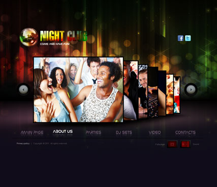 Night Club website template thumb