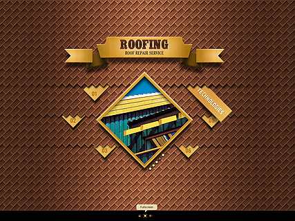 Roofing website template thumb