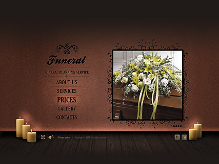 Funeral Service website template thumb