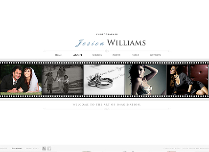 White Gallery website template thumb