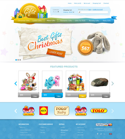 Gifts Store website template thumb