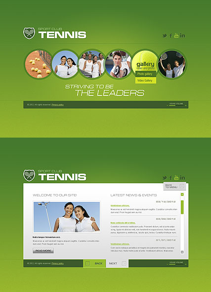 Tennis Club website template thumb