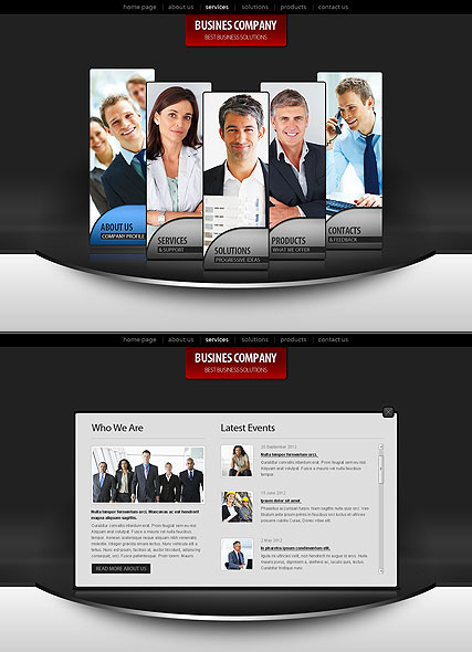 Business Co. website template thumb