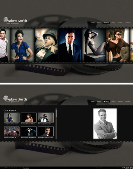 Producer website template thumb