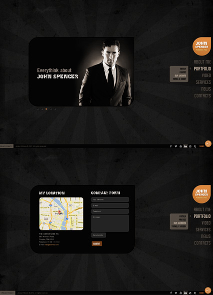 My Folio website template thumb