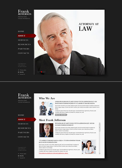 Private Lawyer website template thumb