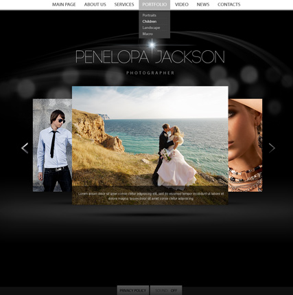 Personal website template thumb