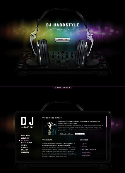 DJ Music website template thumb