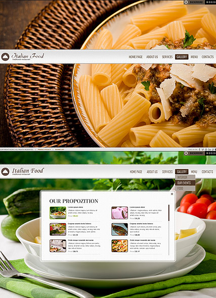 Restaurant website template thumb