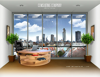Consulting Co. website template thumb