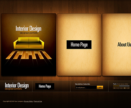 Interior Design website template, 300802267 Easy flash