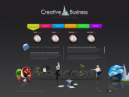Creative Business website template thumb