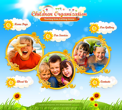 Children Organization website template thumb