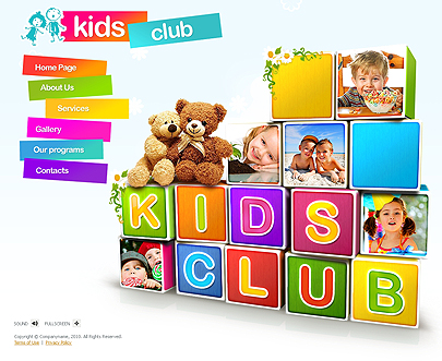Kids Club Easy flash templates
