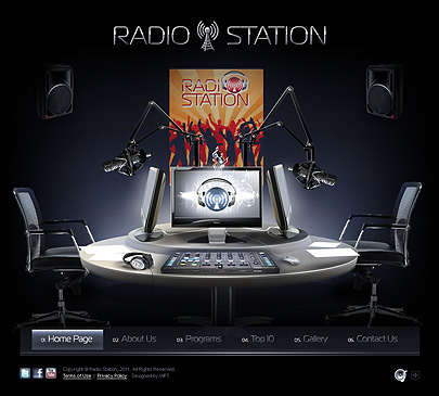 Radio Station website template thumb