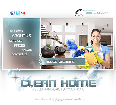 clean house web flash template