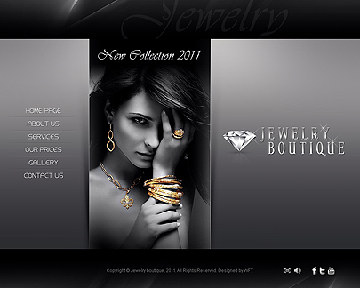 Retail Jewelry Store Web Site Design Templates Rings Bracelets