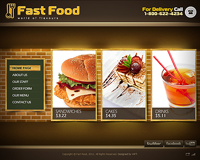 Fast Food Easy flash templates