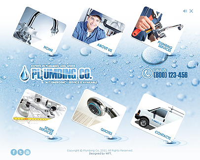Plumbing services template