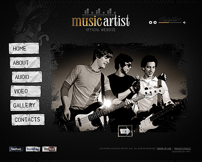 Music Artist website template thumb