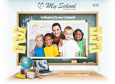 My school website template