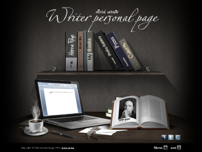Writer personal page template preview