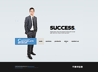 Broker Corporation HTML website template thumb