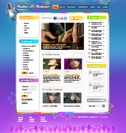 Radio station Joomla theme