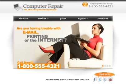 Computer repair joomla template's image here
