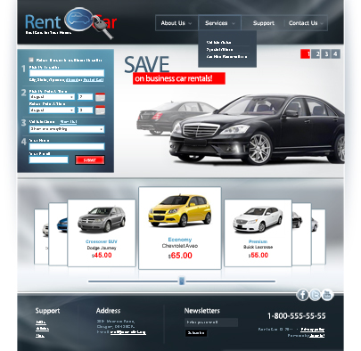 Rent a car Joomla website template's image